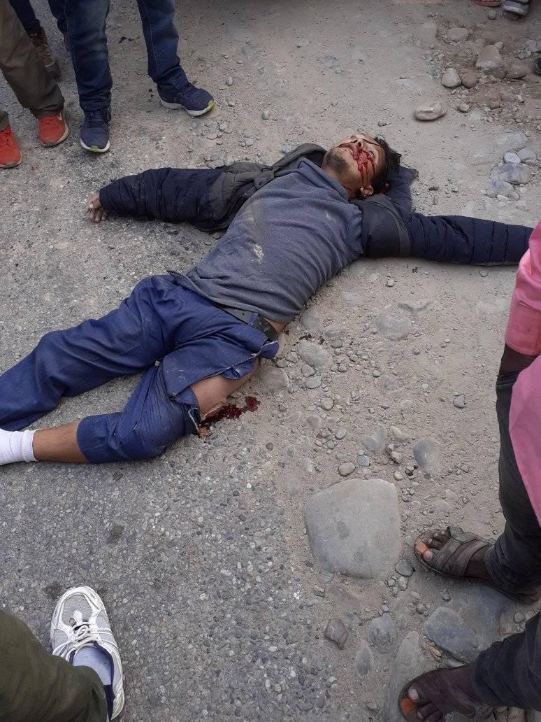 माेटरसाइकल दुर्घटनामा एक युवककाे मृत्यु