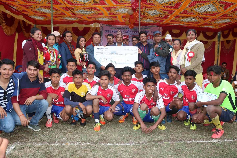 प्रदेस स्तरीय अन्र्तबिद्यालय फुटबल प्रतियोगिता समैजि माबि माझगाउ च्याम्पियन