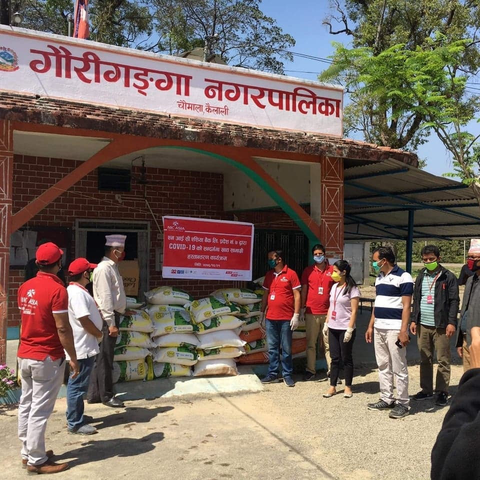 एनआईसी एशियाद्धारा गरीव तथा मजदुरलाई करीव चार लाख रुपैयाको खाद्यान्न सहयोग