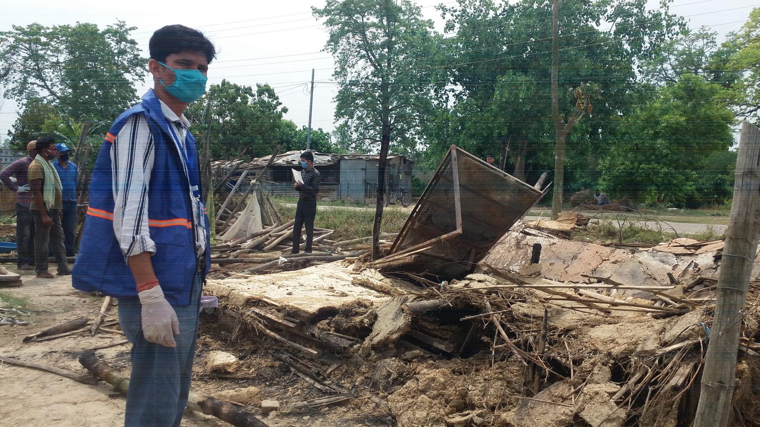 आगलागीबाट पदमाको घर जलेर नष्ट ,खुला आकाशमुनि रात काट्न बाध्य ।