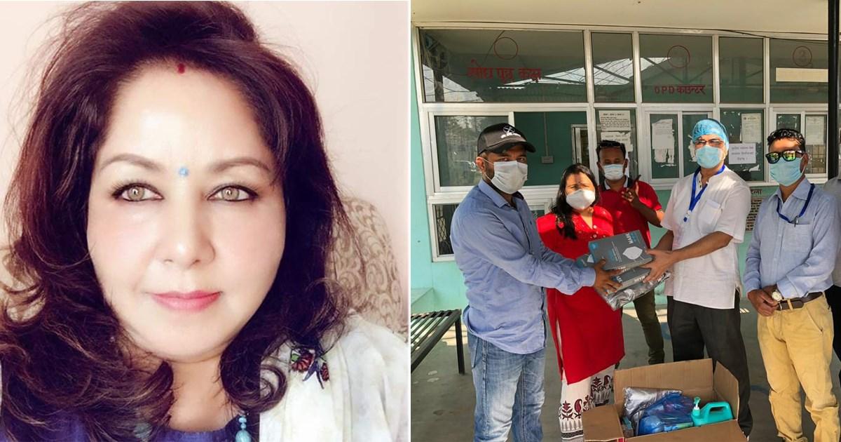 डा.आरजु देउबाद्धारा सेती प्रादेशिक अस्पतालको प्रसुति गृहलाई स्वास्थ सामाग्री हस्तान्तरण ।