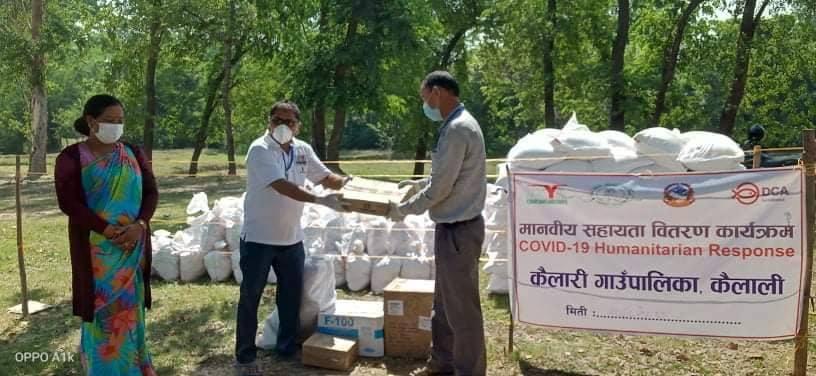 फाया नेपालद्धारा मानवीय सहायता राहत सामाग्री वितरण