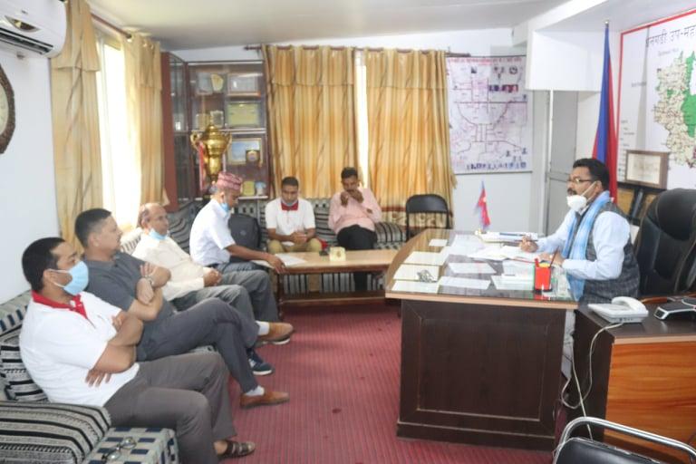 धनगढी उप–महानगरपालिकामा कोभिड–१९ प्रतिकार्य कार्यक्रम सुरु