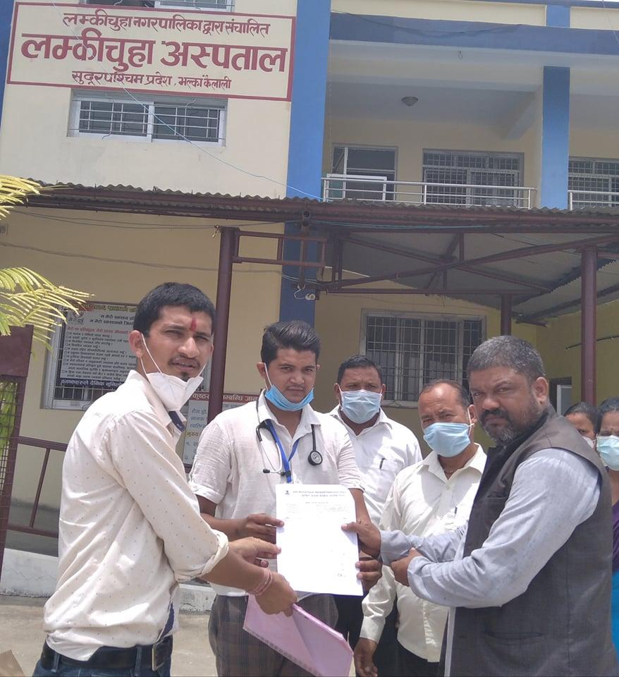 डा.आरजुद्धारा ३ लाखको कोरोना स्वास्थ्य सुरक्षा सामाग्री हस्तान्तरण