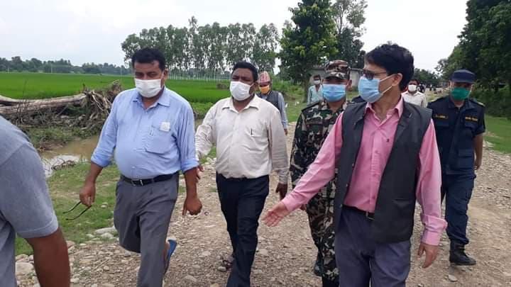 पूर्व सासंद श्रीपाईलीले गराए मुख्यमन्त्री भट्टको भजनी बाढी प्रभावित क्षेत्रको अनुगमन