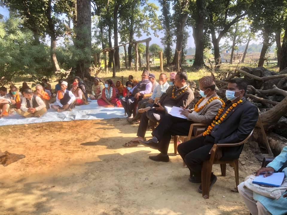 माननिय राना क्षेत्र विकास योजनाको अनुगमन तथा जनता भेटघाट