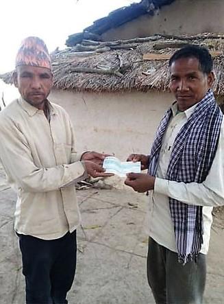 नेपाल रेडक्रस सोसाइटी द्वारा आगलागी पीडितलाई राहत बितरण