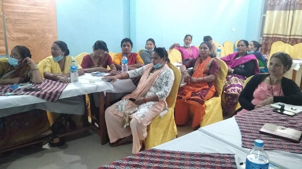 स्थानिय तहका महिला जनप्रतिनिधीहरुका लागि अनुशिक्षण कार्यक्रम सम्पन्न