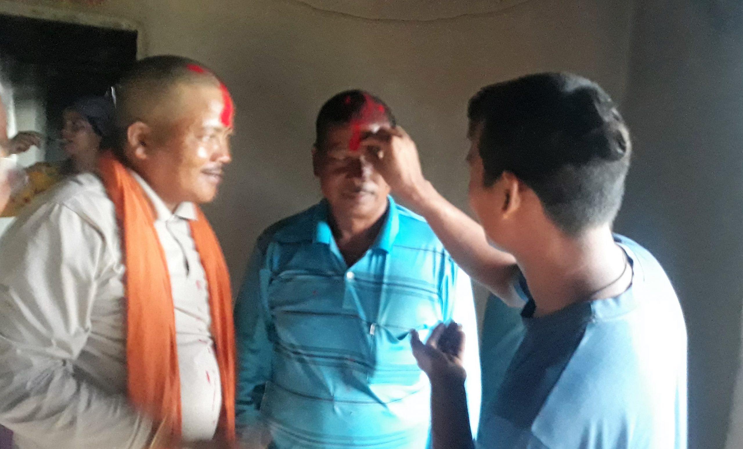 असैना गाँवमे पाँच सदसिय भलमन्सा संघर्ष समिति निर्माण